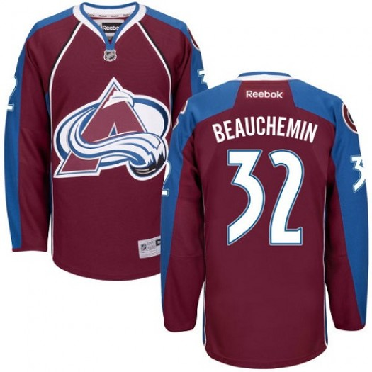 Francois Beauchemin Colorado Avalanche Men's Reebok Authentic Red Burgundy Home Jersey