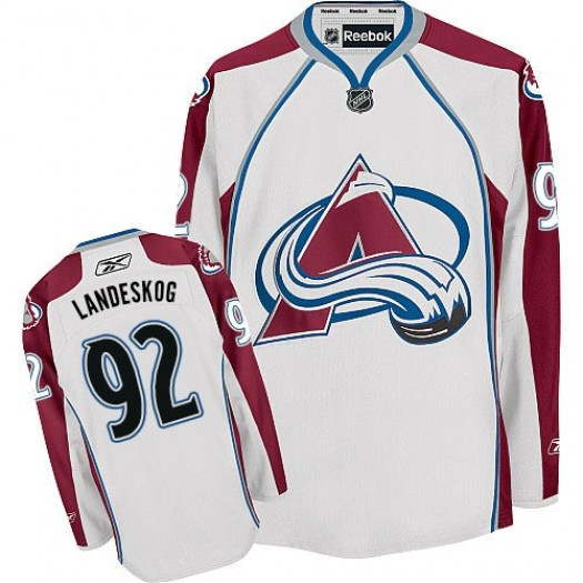 Gabriel Landeskog Colorado Avalanche Men's Reebok Authentic White Away Jersey