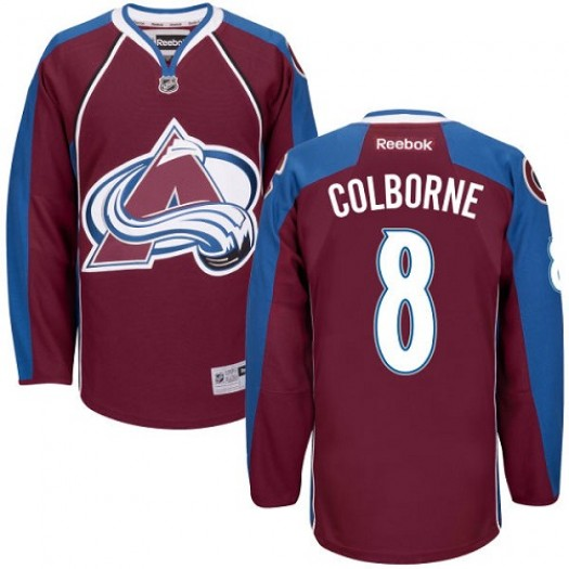Joe Colborne Colorado Avalanche Men's Reebok Authentic Red Burgundy Home Jersey