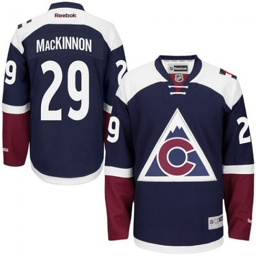 Nathan MacKinnon Colorado Avalanche Men's Reebok Authentic Blue Third Jersey