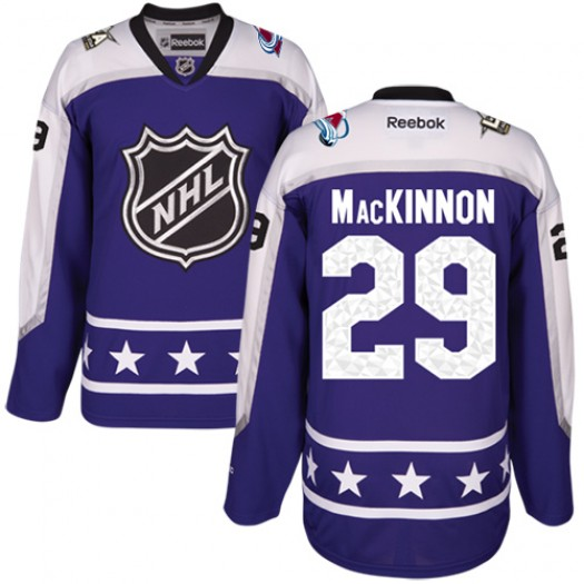 Nathan MacKinnon Colorado Avalanche Men's Reebok Authentic Purple Central Division 2017 All-Star Jersey