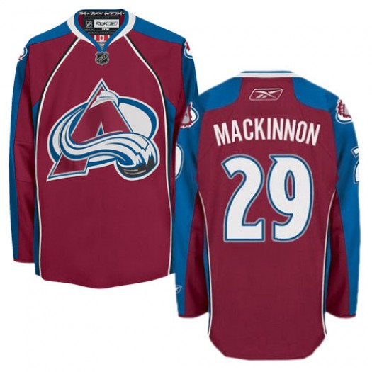 Nathan MacKinnon Colorado Avalanche Men's Reebok Premier Red Burgundy Home Jersey