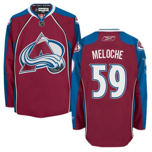 Nicolas Meloche Colorado Avalanche Men's Reebok Authentic Red Burgundy Home Jersey