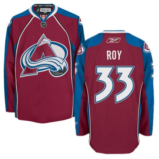 Patrick Roy Colorado Avalanche Men's Reebok Authentic Red Burgundy Home Jersey