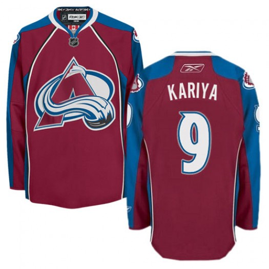 Paul Kariya Colorado Avalanche Men's Reebok Authentic Red Burgundy Home Jersey