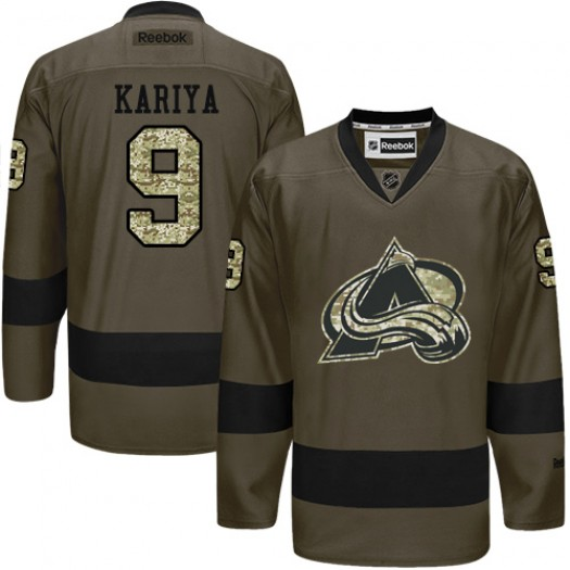 Paul Kariya Colorado Avalanche Men's Reebok Premier Green Salute to Service Jersey