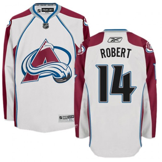Rene Robert Colorado Avalanche Men's Reebok Authentic White Away Jersey