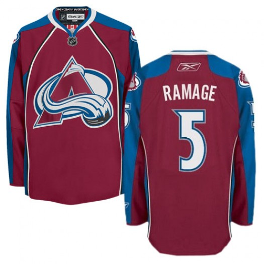 Rob Ramage Colorado Avalanche Men's Reebok Authentic Red Burgundy Home Jersey