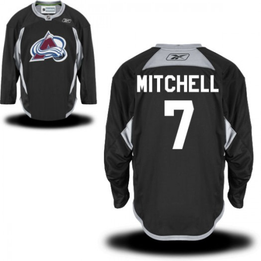 John Mitchell Colorado Avalanche Men's Reebok Replica Black Practice Alternate Jersey