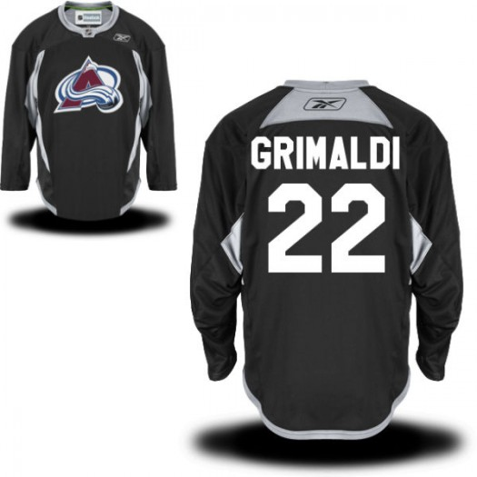 Rocco Grimaldi Colorado Avalanche Men's Reebok Replica Black Practice Alternate Jersey