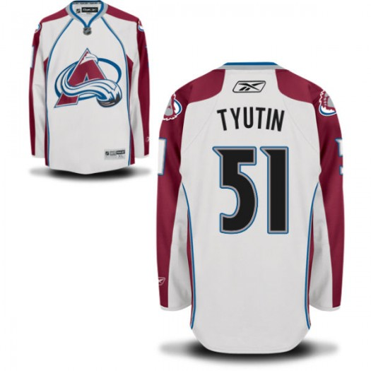 Fedor Tyutin Colorado Avalanche Men's Reebok Replica White Away Jersey