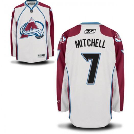 John Mitchell Colorado Avalanche Men's Reebok Replica White Away Jersey