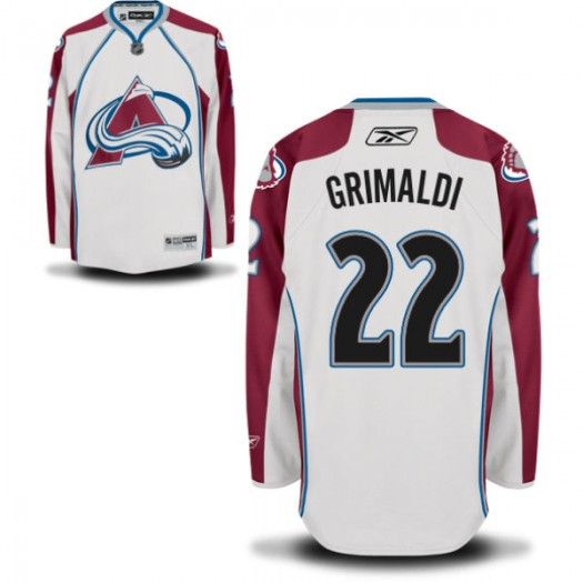 Rocco Grimaldi Colorado Avalanche Men's Reebok Replica White Away Jersey