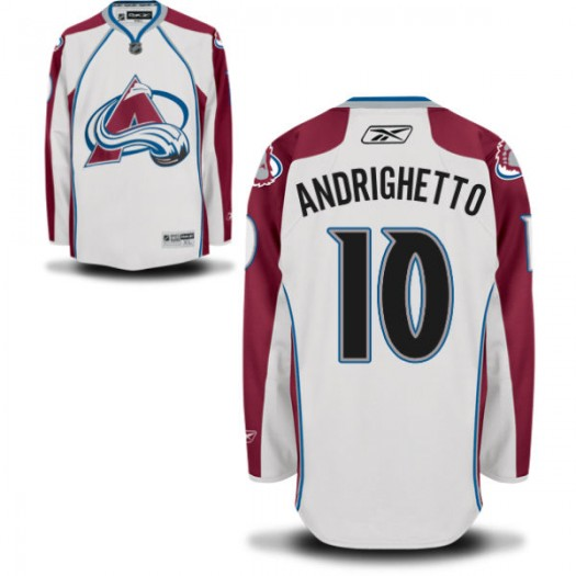 Sven Andrighetto Colorado Avalanche Men's Reebok Replica White Away Jersey