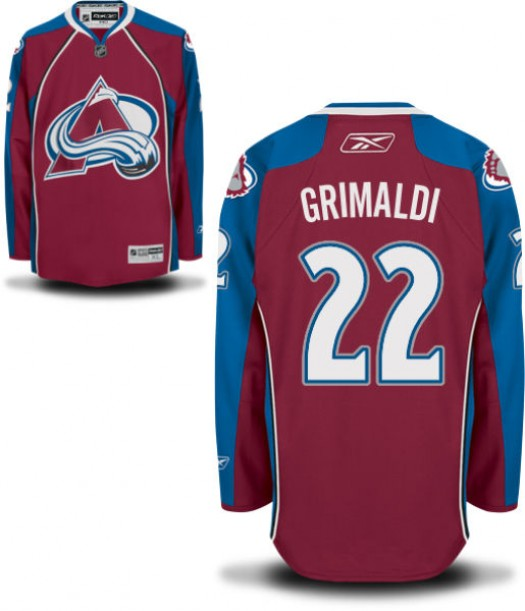 Rocco Grimaldi Colorado Avalanche Men's Reebok Replica Home JerseyBurgundy
