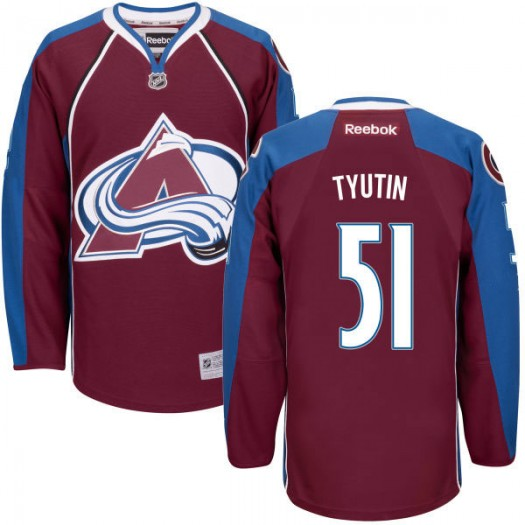Fedor Tyutin Colorado Avalanche Men's Reebok Replica Maroon Home Jersey