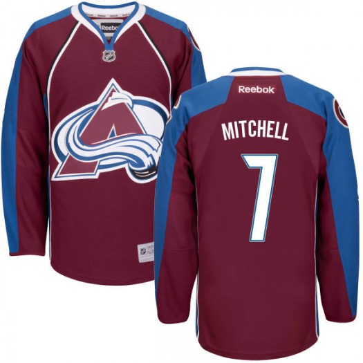 John Mitchell Colorado Avalanche Men's Reebok Replica Maroon Home Jersey