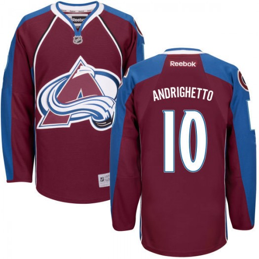 Sven Andrighetto Colorado Avalanche Men's Reebok Replica Maroon Home Jersey