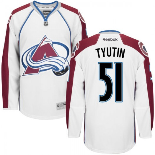 Fedor Tyutin Colorado Avalanche Men's Replica White Home Jersey
