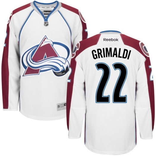 Rocco Grimaldi Colorado Avalanche Men's Replica White Home Jersey