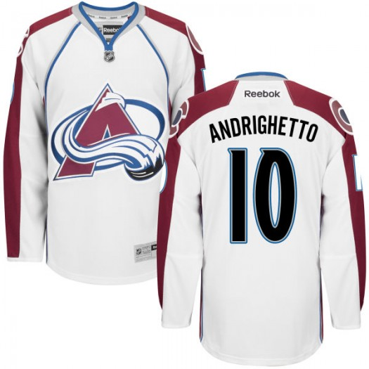 Sven Andrighetto Colorado Avalanche Men's Replica White Home Jersey
