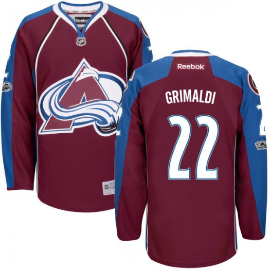 Rocco Grimaldi Colorado Avalanche Men's Reebok Replica Maroon Home Centennial Patch Jersey
