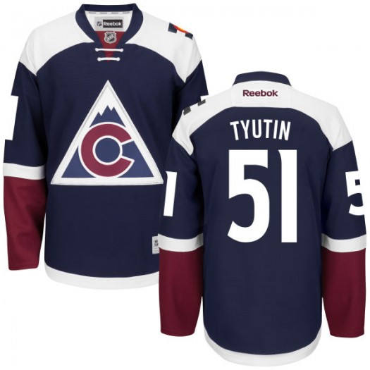 Fedor Tyutin Colorado Avalanche Men's Reebok Premier Navy Alternate Jersey