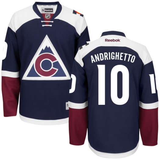 Sven Andrighetto Colorado Avalanche Men's Reebok Premier Navy Alternate Jersey