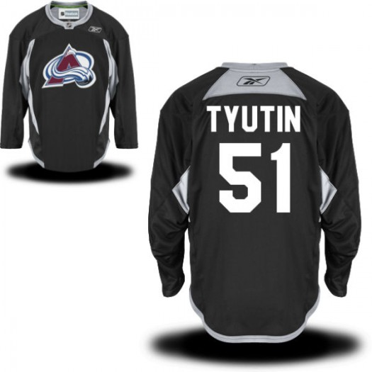 Fedor Tyutin Colorado Avalanche Men's Reebok Authentic Black Practice Alternate Jersey