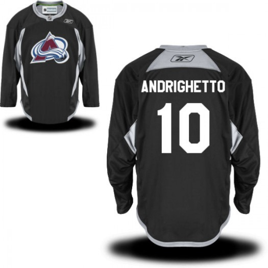 Sven Andrighetto Colorado Avalanche Men's Reebok Authentic Black Practice Alternate Jersey