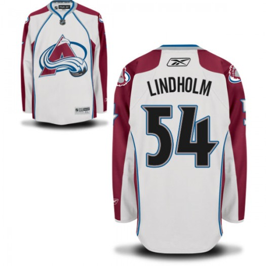 Anton Lindholm Colorado Avalanche Men's Reebok Authentic White Away Jersey
