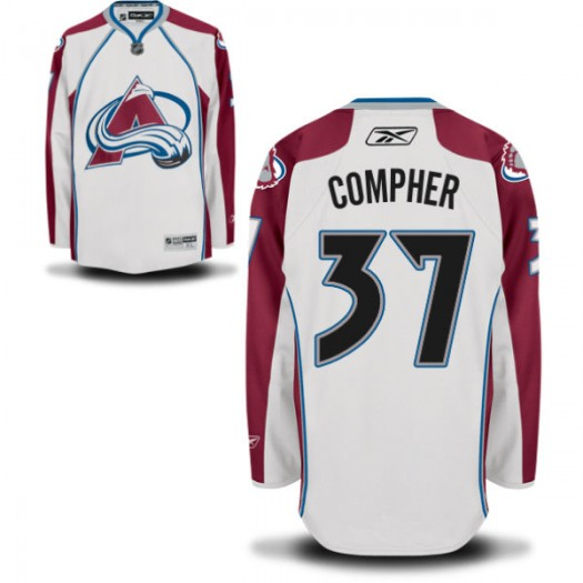 J.t. Compher Colorado Avalanche Men's Reebok Authentic White Away Jersey