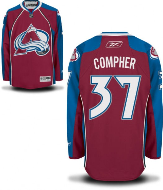 J.t. Compher Colorado Avalanche Men's Reebok Authentic Home JerseyBurgundy