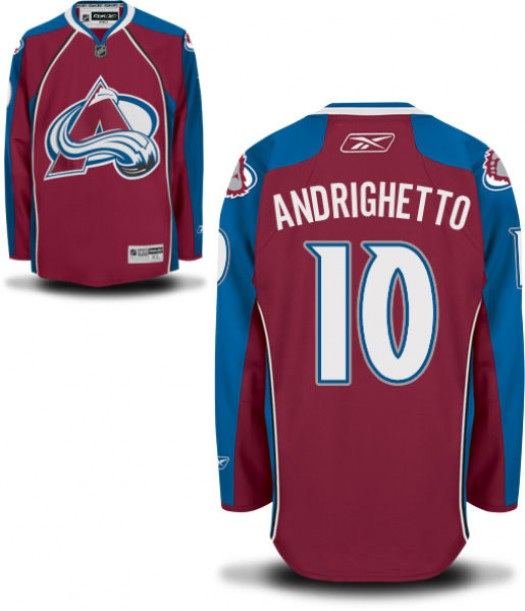 Sven Andrighetto Colorado Avalanche Men's Reebok Authentic Home JerseyBurgundy