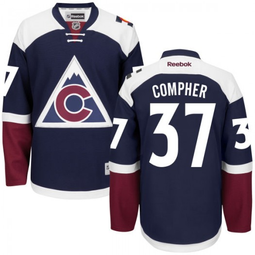 J.t. Compher Colorado Avalanche Men's Reebok Authentic Navy Alternate Jersey