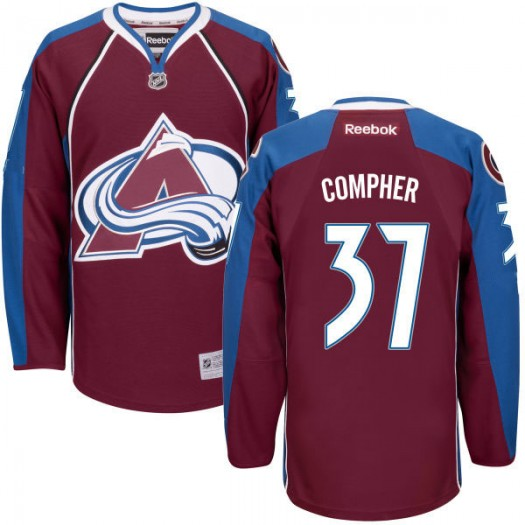 J.t. Compher Colorado Avalanche Men's Reebok Authentic Maroon Home Jersey