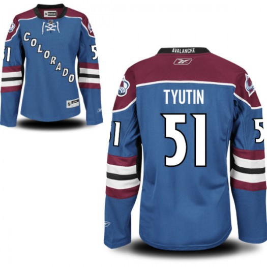 Fedor Tyutin Colorado Avalanche Women's Reebok Premier Royal Blue Alternate Jersey
