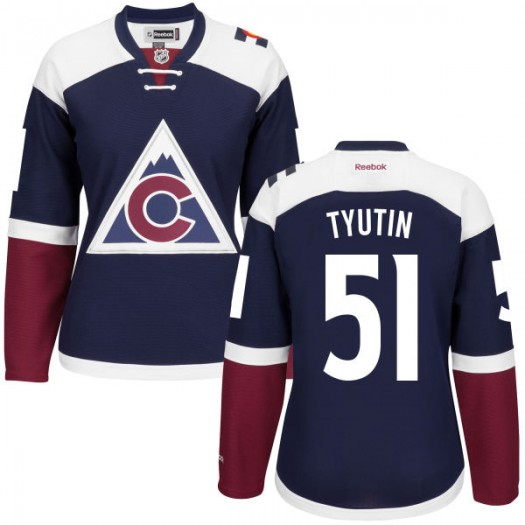Fedor Tyutin Colorado Avalanche Women's Reebok Premier Navy Alternate Jersey
