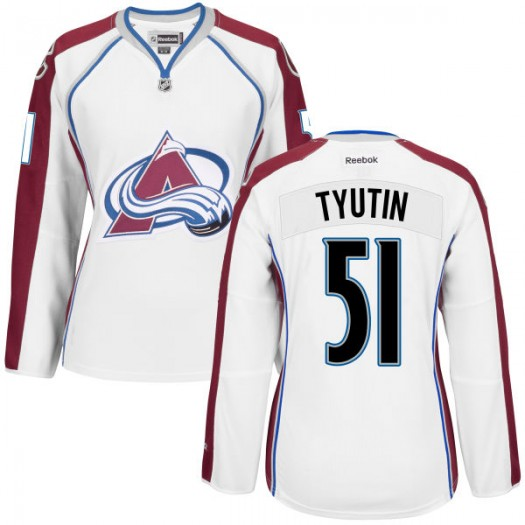 Fedor Tyutin Colorado Avalanche Women's Replica White Away Jersey