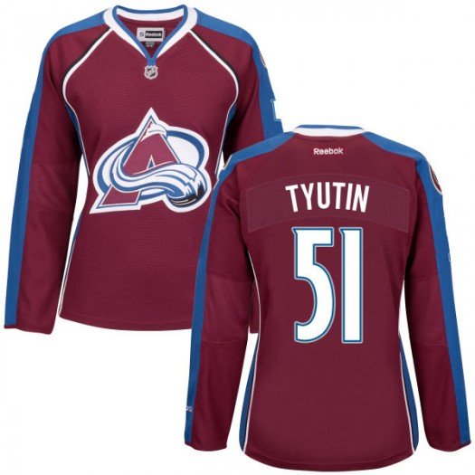 Fedor Tyutin Colorado Avalanche Women's Authentic Maroon Home Jersey