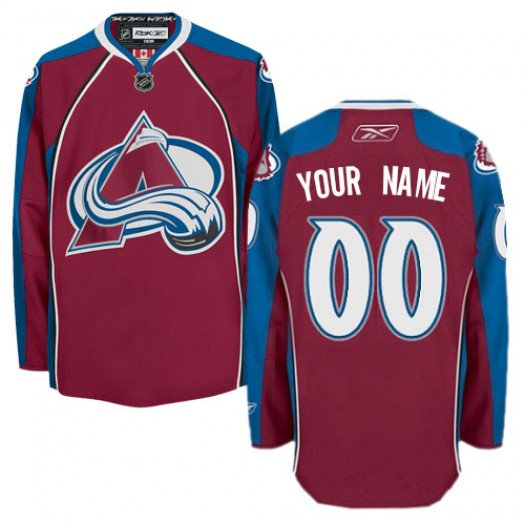 Men's Reebok Colorado Avalanche Customized Authentic Burgundy Red Home Jersey