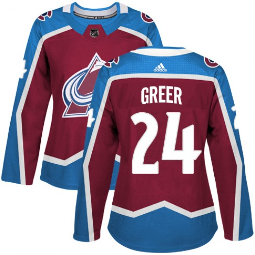 A.J. Greer Colorado Avalanche Women's Adidas Authentic Red Burgundy Home Jersey