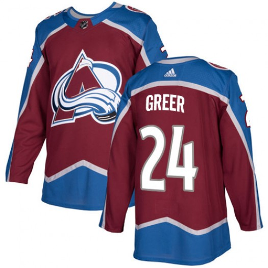 A.J. Greer Colorado Avalanche Youth Adidas Premier Red Burgundy Home Jersey