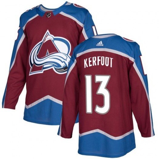 Alexander Kerfoot Colorado Avalanche Youth Adidas Authentic Red Burgundy Home Jersey