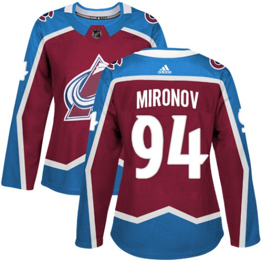 Andrei Mironov Colorado Avalanche Women's Adidas Authentic Red Burgundy Home Jersey