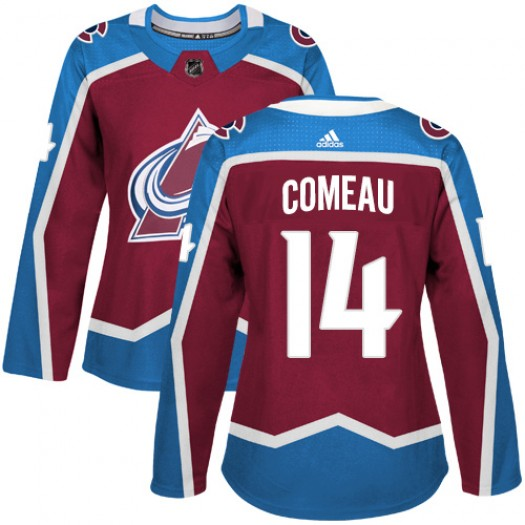 Blake Comeau Colorado Avalanche Women's Adidas Authentic Red Burgundy Home Jersey