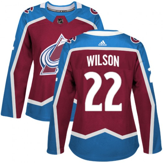 Colin Wilson Colorado Avalanche Women's Adidas Authentic Red Burgundy Home Jersey