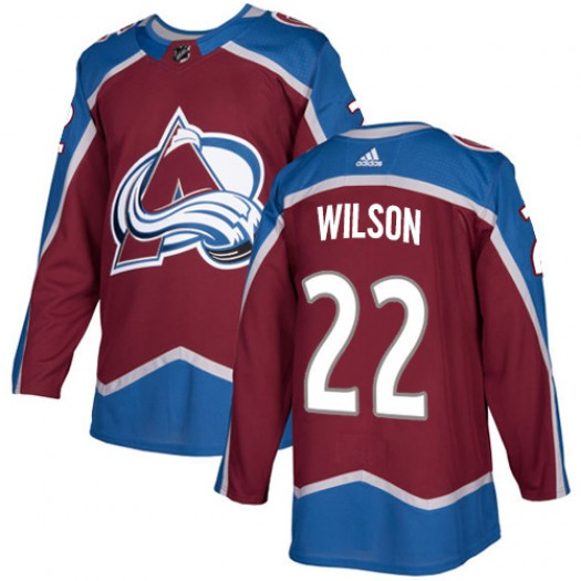 Colin Wilson Colorado Avalanche Youth Adidas Authentic Red Burgundy Home Jersey