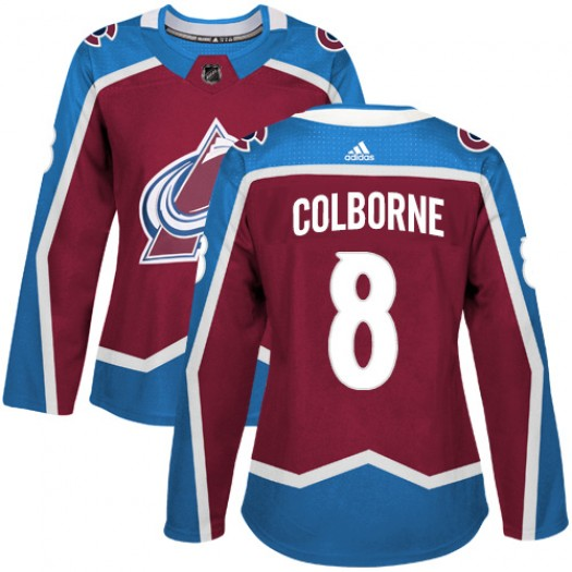 Joe Colborne Colorado Avalanche Women's Adidas Authentic Red Burgundy Home Jersey