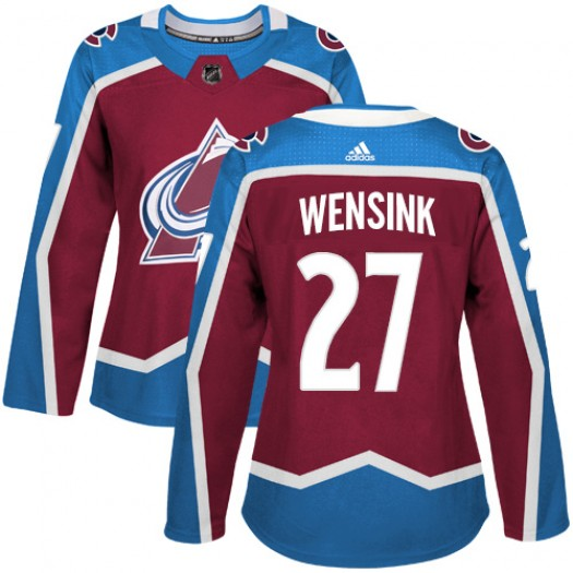 John Wensink Colorado Avalanche Women's Adidas Authentic Red Burgundy Home Jersey